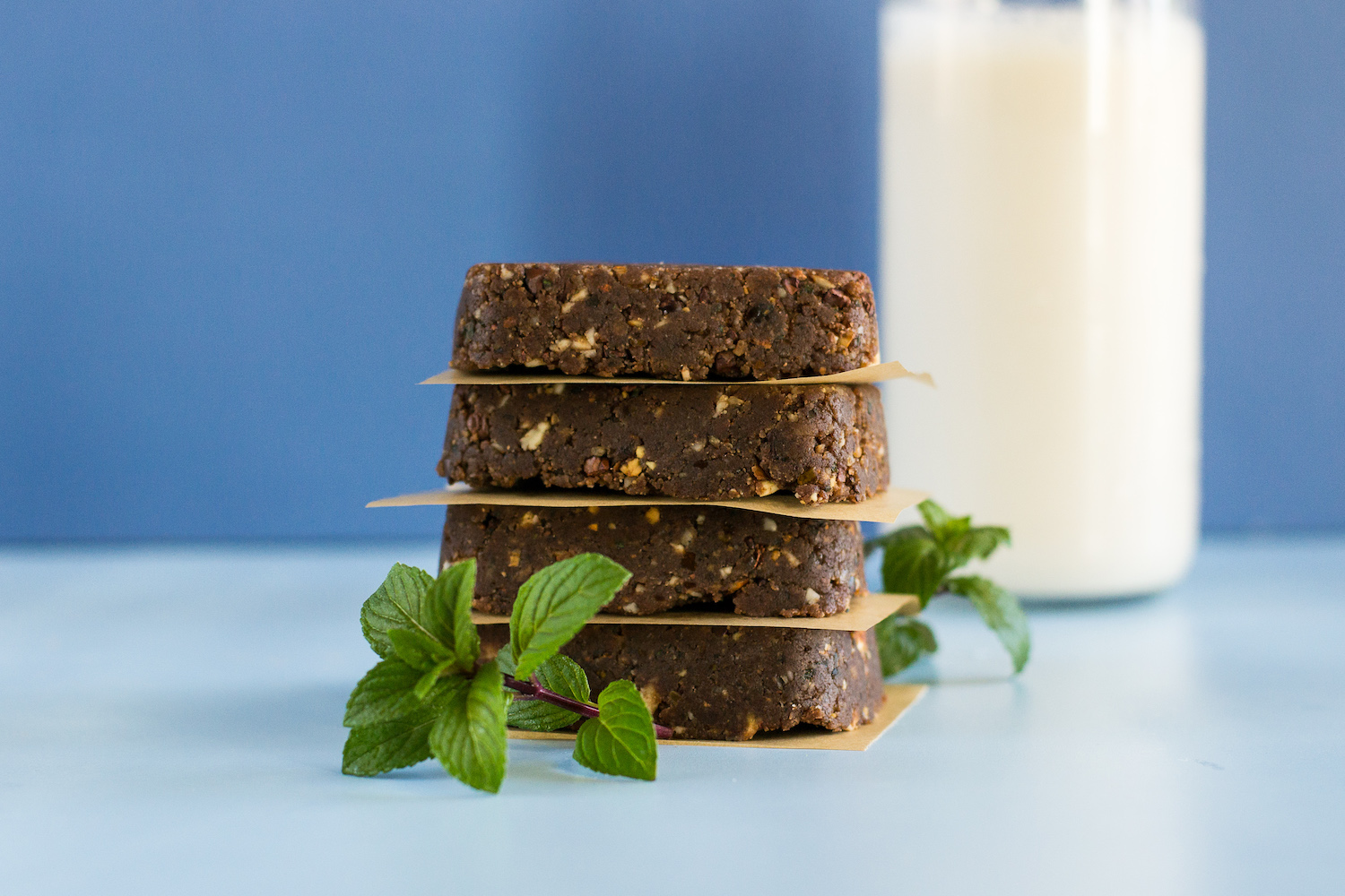 Raw Chocolate Mint Nut & Date Bars by Unrefined Vegan