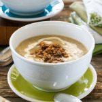 Vegan, Gluten-free Slow Cooker Stuffed Artichoke Soup by An Unrefined Vegan