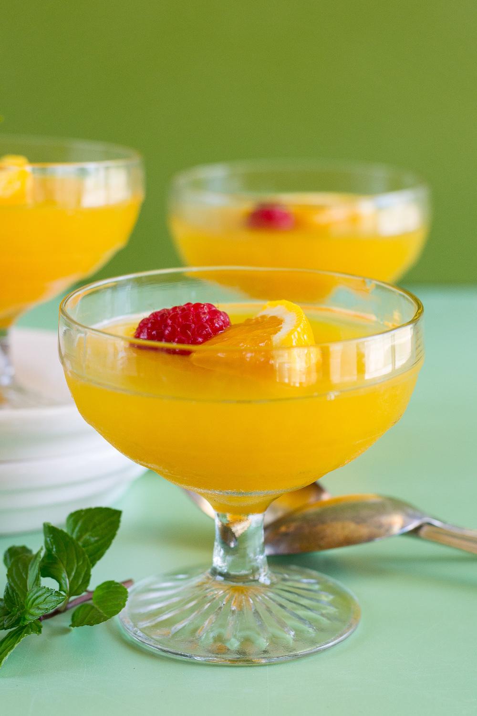 Orange Gelatin by An Unrefined Vegan