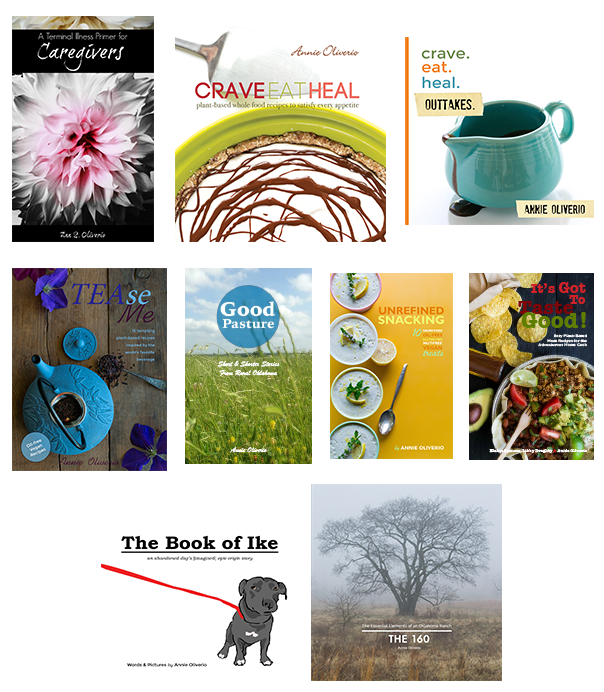 Collage of Book Covers Annie Oliverio