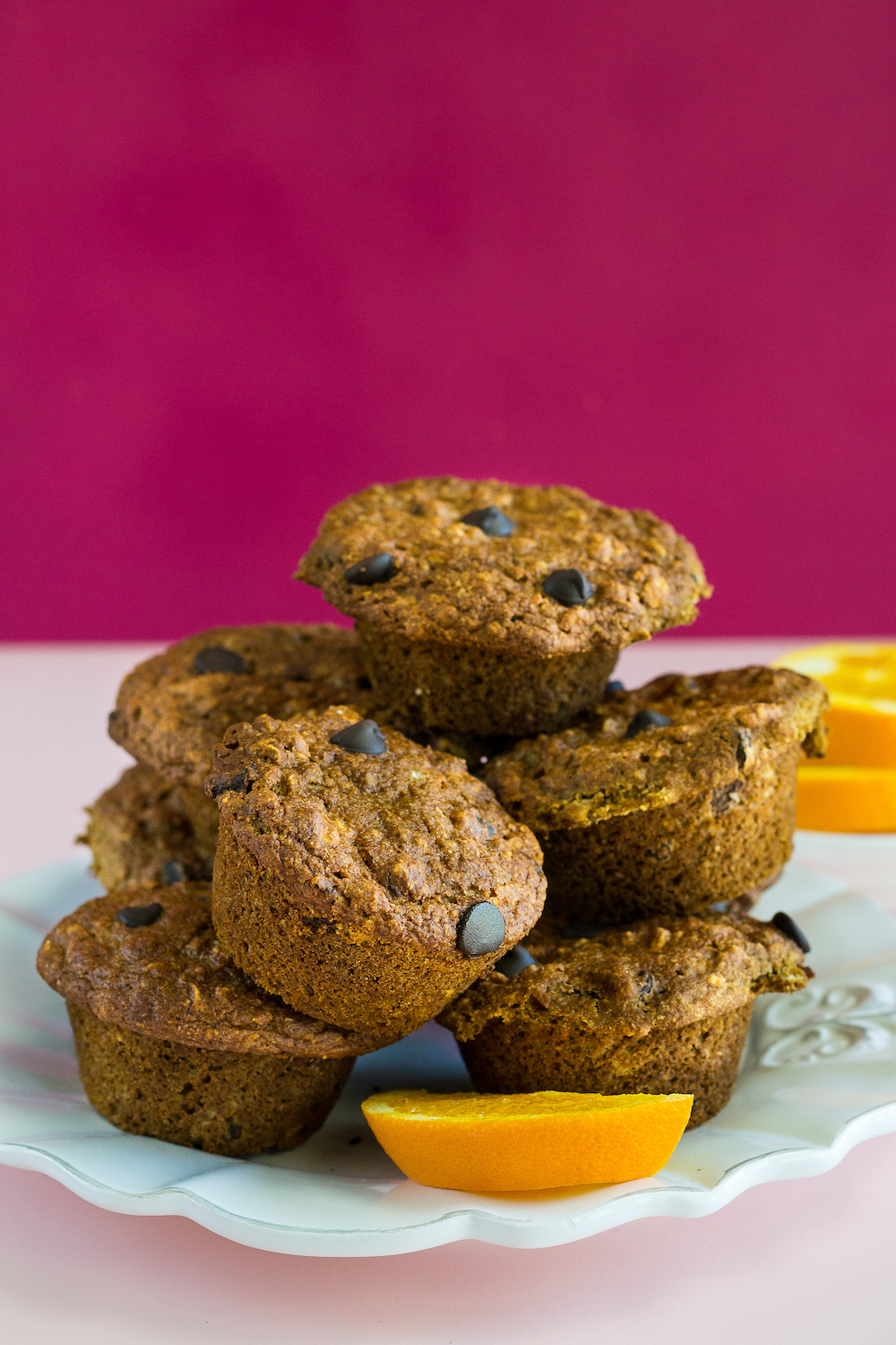Oil-free Orange Muffins with Chocolate Chips by Unrefined Vegan
