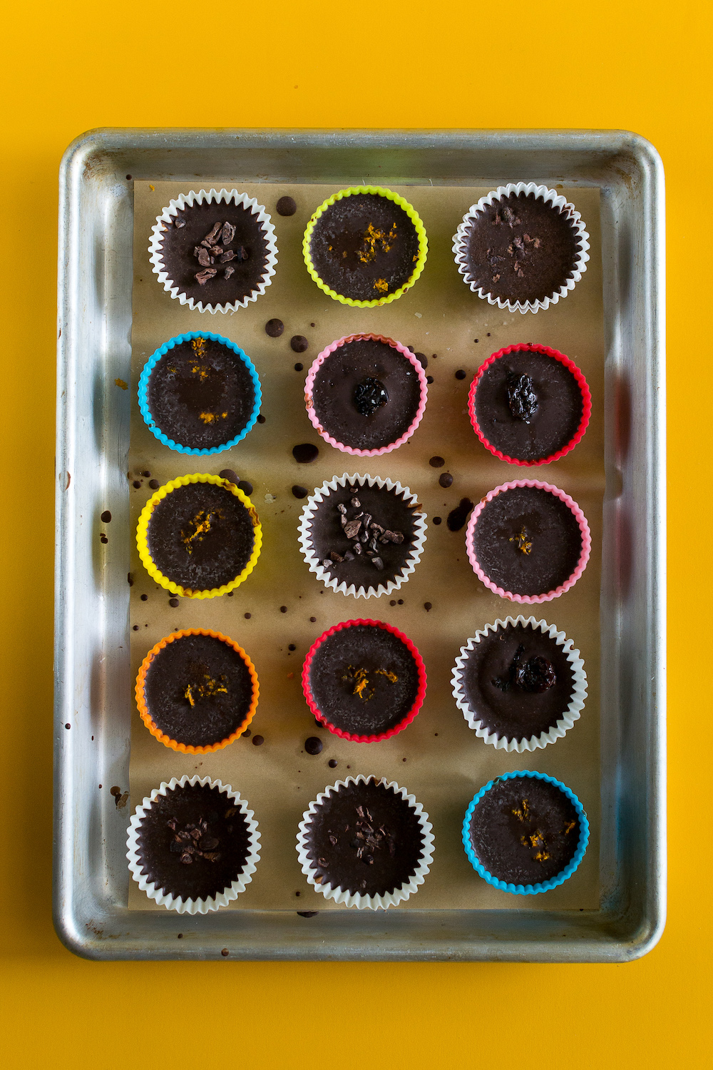 Chocolate-Orange Peanut Butter Cups with Dried Cherries by Unrefined Vegan