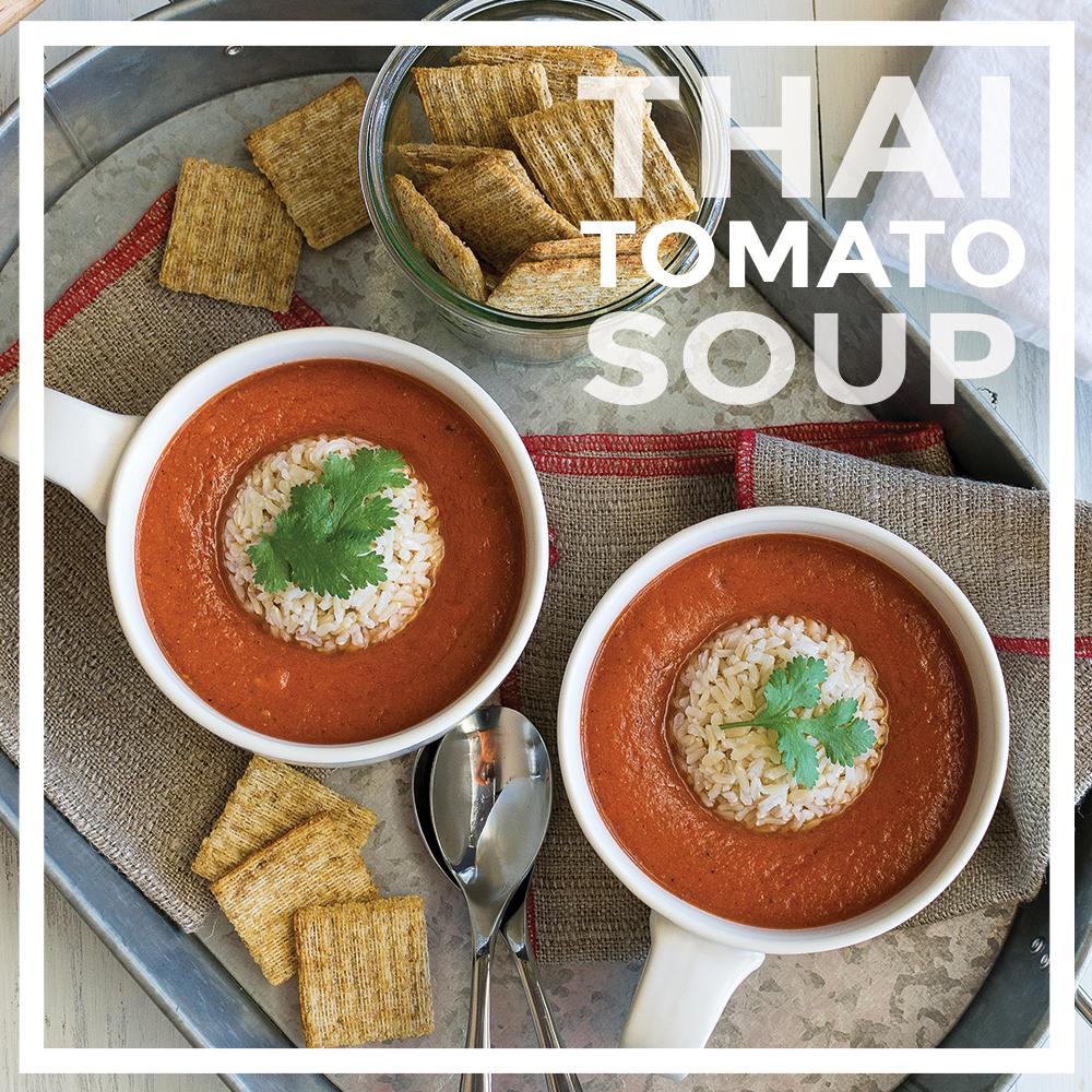 Oil-free Thai Tomato Soup by Unrefined Vegan