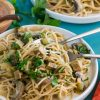 Creamy Pasta with Turk'y & Mushrooms by Unrefined Vegan
